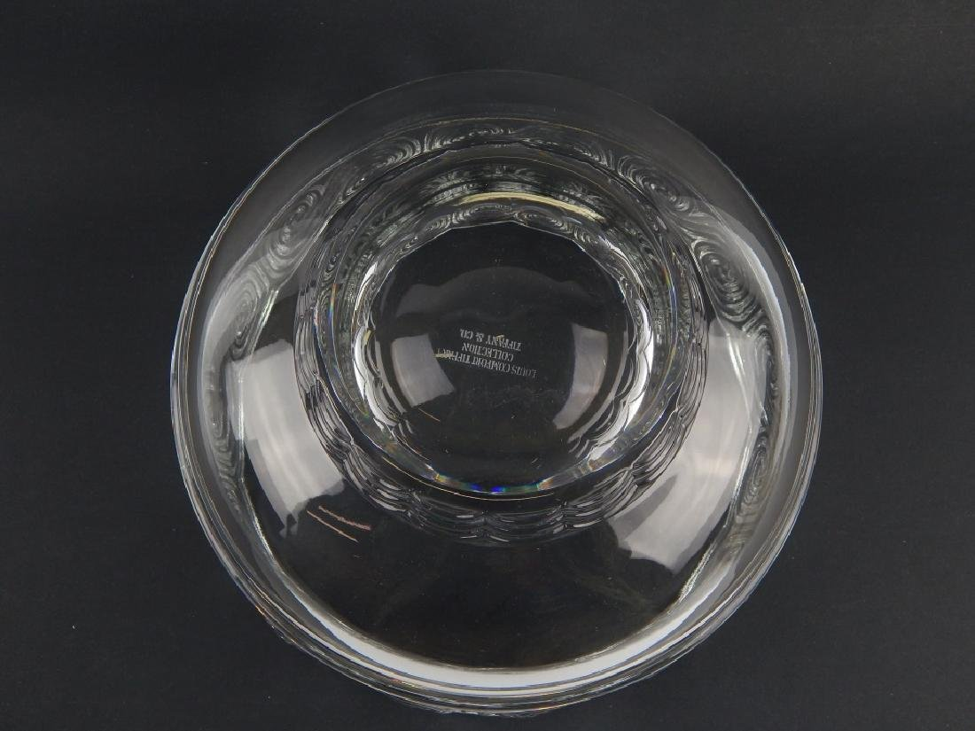LOUIS COMFORT TIFFANY COLLECTION GLASS WAVE BOWL - 3
