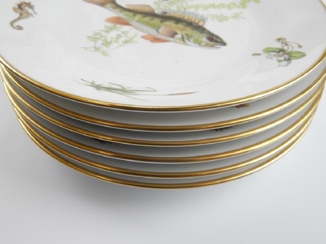 13 RICHARD GINORI QUENELL FISH DINNERWARE PIECES - 7