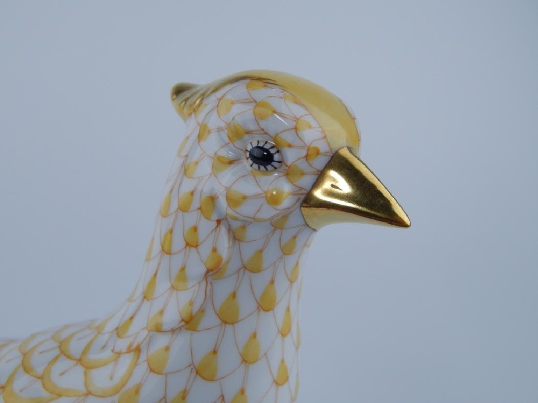 LARGE HEREND YELLOW FISHNET PHEASANT 5178 - 2