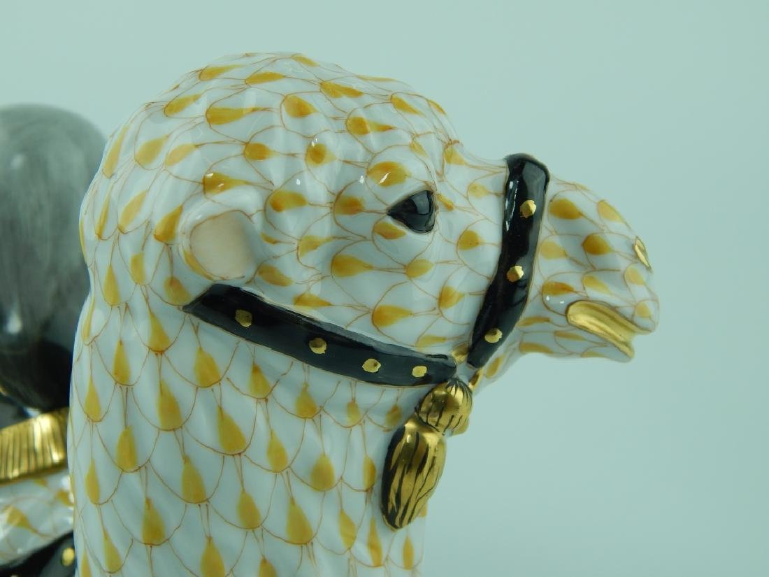 LARGE HEREND YELLOW FISHNET CAMEL FIGURE 15472 - 4