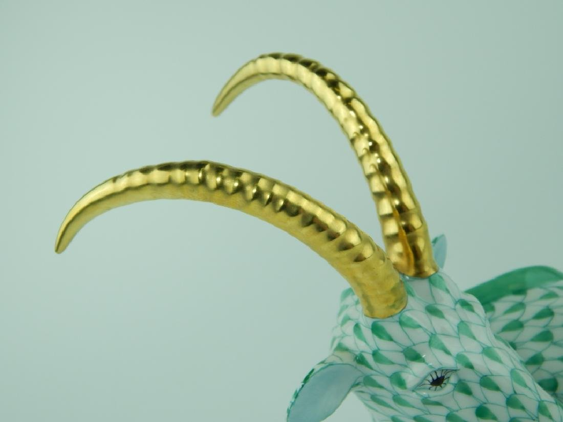 HEREND HUNGARIAN GREEN FISHNET ANTELOPE 15457 - 2