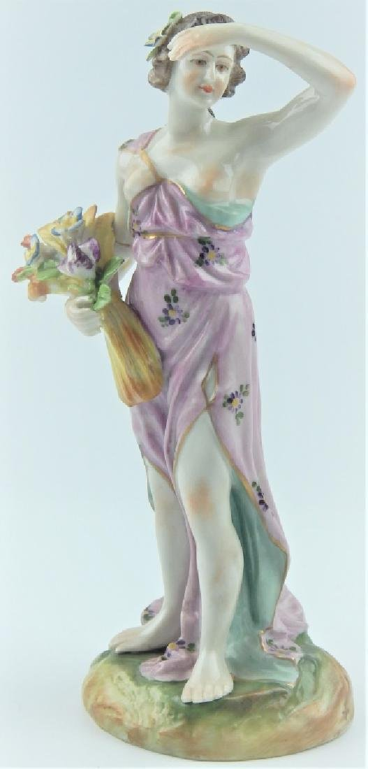18th/19th CENTURY EUROPEAN PORCELAIN FIGURE