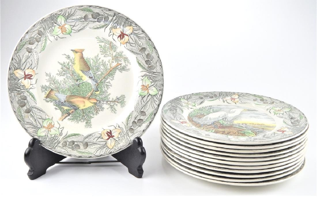 12 ADAMS JAMES AUDUBON BIRDS OF AMERICA PLATES