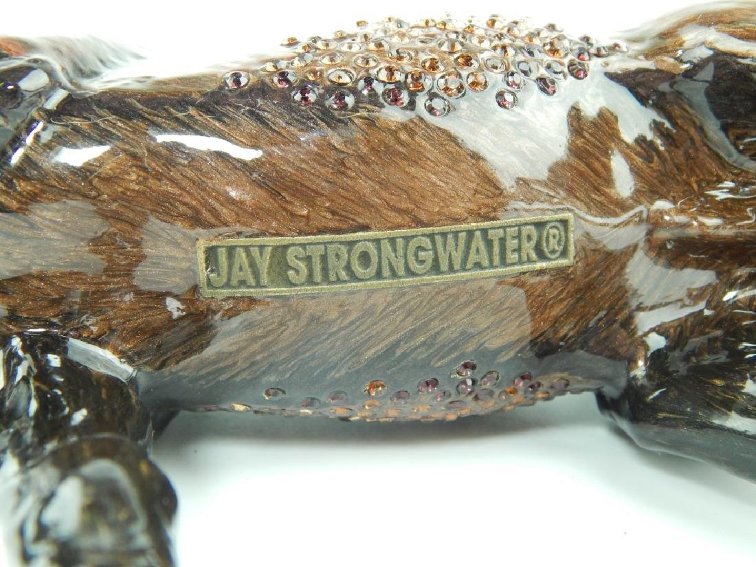 HEAVY JAY STRONGWATER ENAMELED JEWELED HORSE - 6