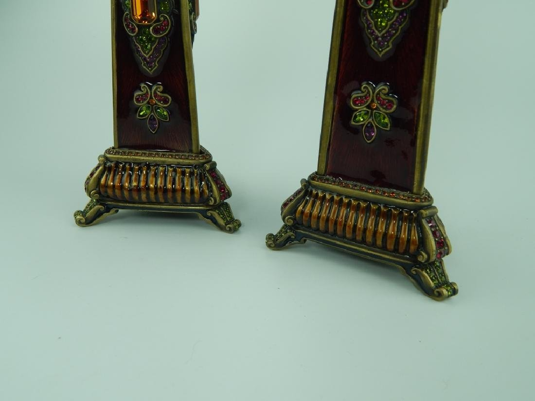 PAIR OF JAY STRONGWATER GRADUATING CANDLESTICKS - 3