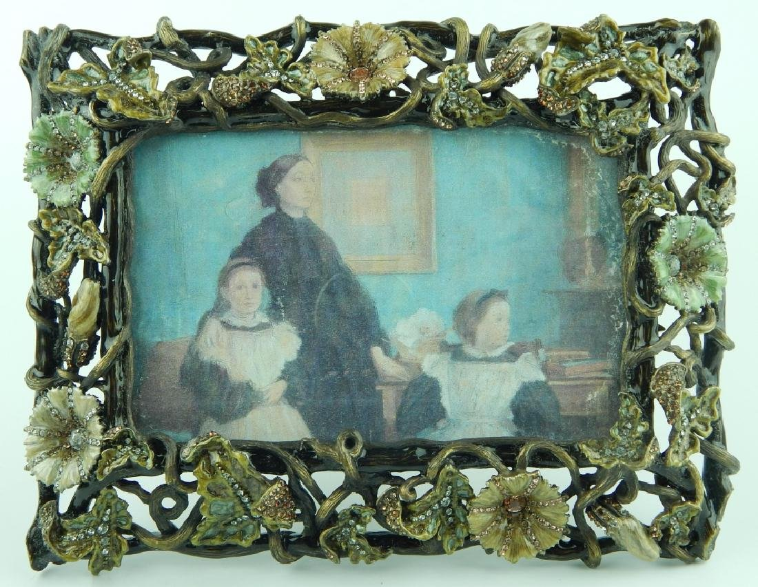 JAY STRONGWATER FLORAL JEWELED PICTURE FRAME