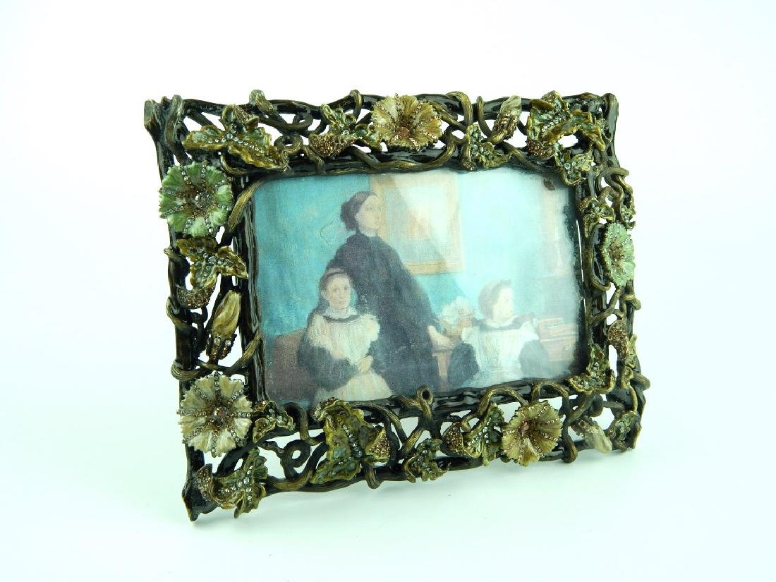 JAY STRONGWATER FLORAL JEWELED PICTURE FRAME - 2
