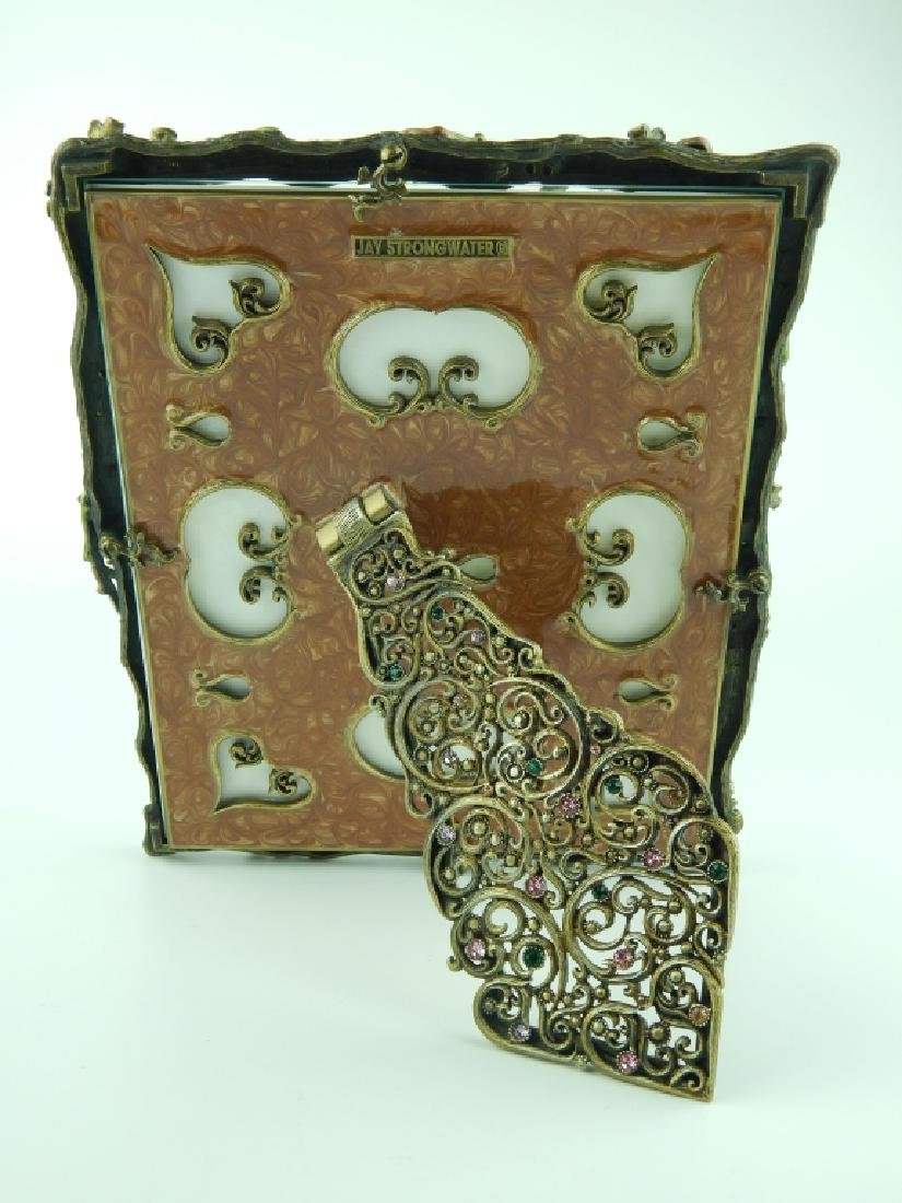JAY STRONGWATER LOG ENAMELED JEWELED PICTURE FRAME - 5
