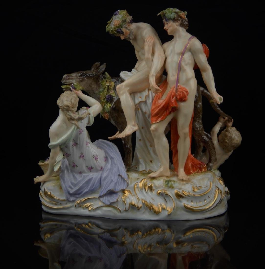 "ANTIQUE MEISSEN ""SILENUS ON DONKEY"" SCULPTURE"