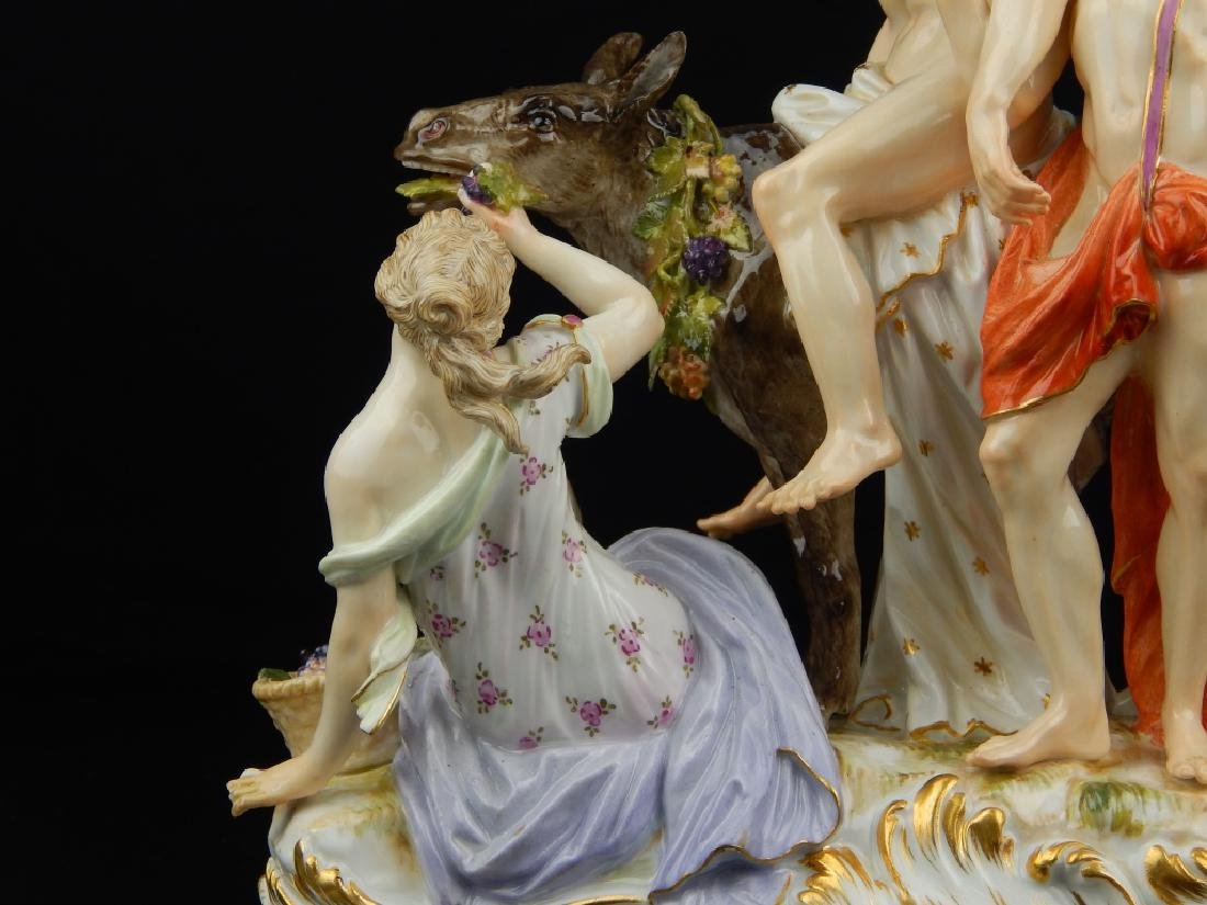 "ANTIQUE MEISSEN ""SILENUS ON DONKEY"" SCULPTURE - 7"