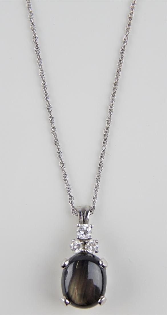 14K WG DIAMOND LABRADORITE PENDANT & NECKLACE - 2
