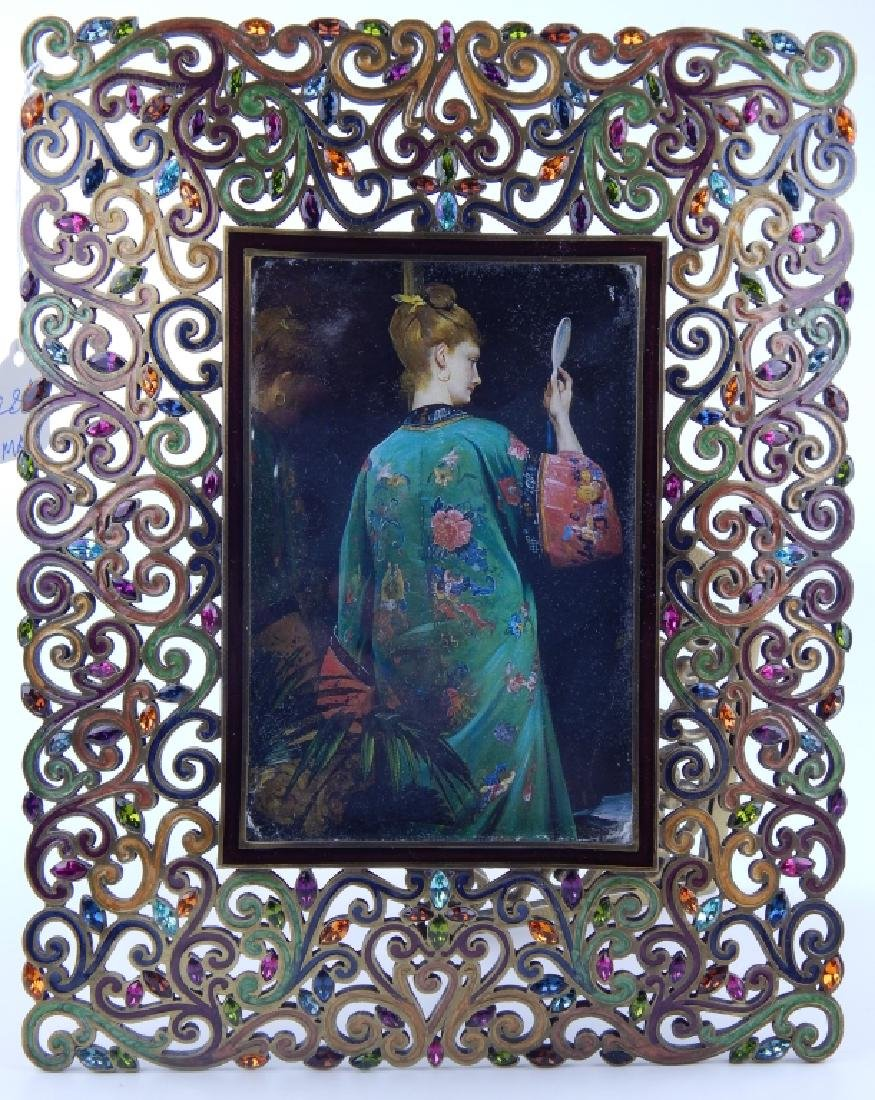 JAY STRONGWATER RETICULATED SCROLLED PICTURE FRAME