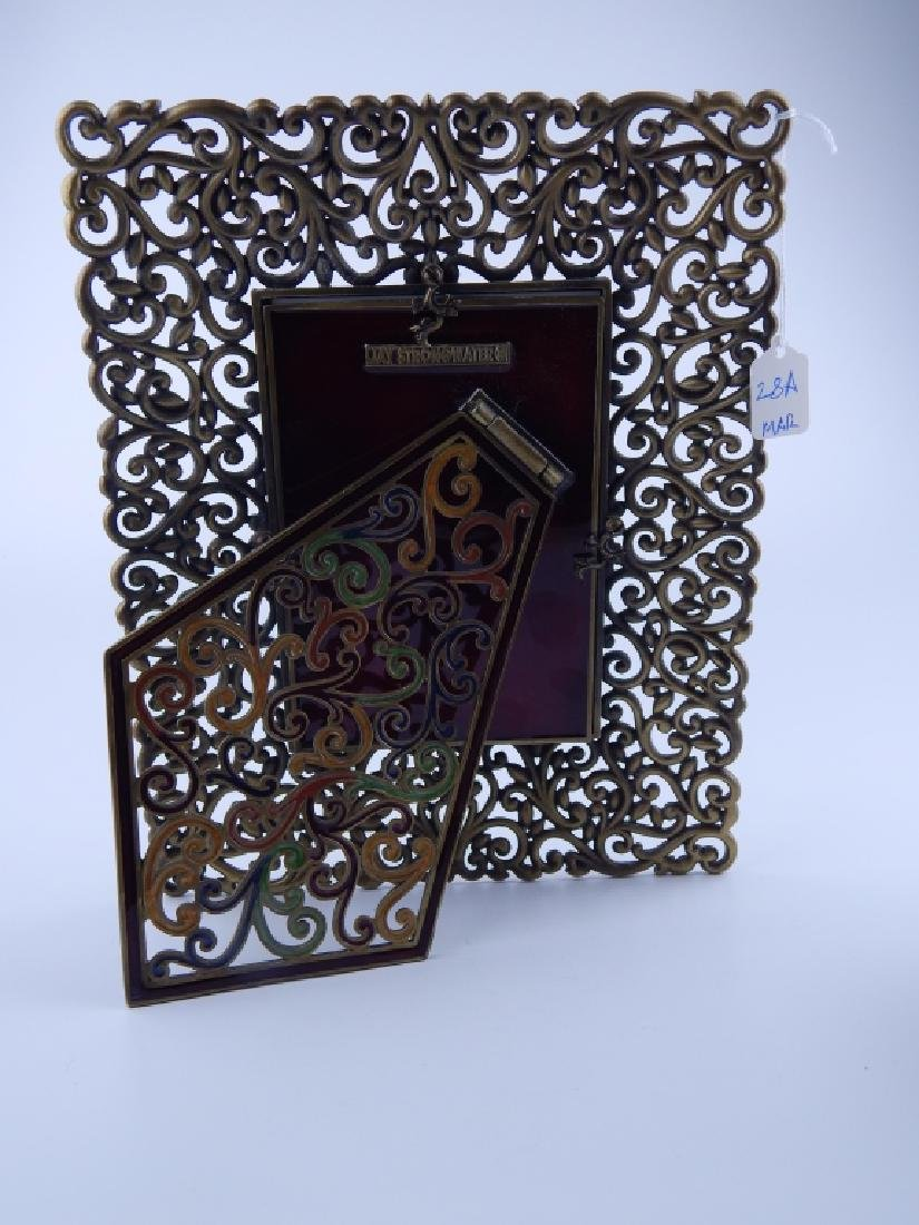 JAY STRONGWATER RETICULATED SCROLLED PICTURE FRAME - 3