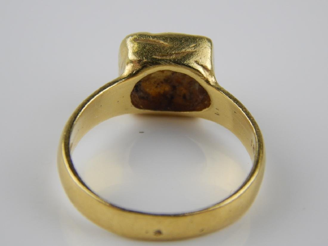 BY RA 18K YELLOW GOLD ETCHED CENTER RING Sz 6 - 5