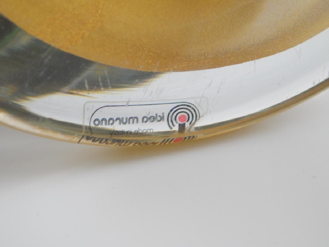 3pc IDEA MURANO EMERALD GLASS GARNITURE SET - 10