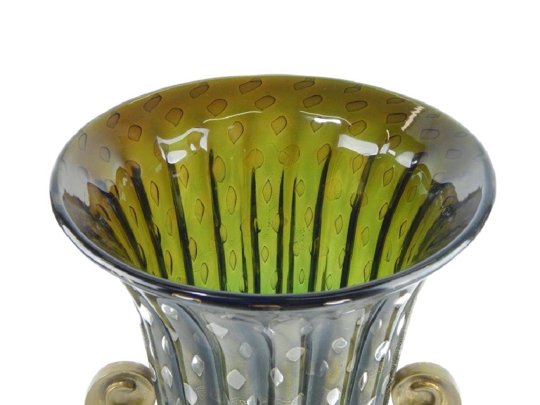 3pc IDEA MURANO EMERALD GLASS GARNITURE SET - 2