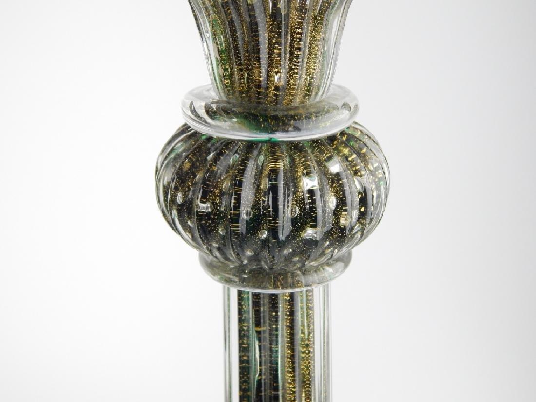 3pc IDEA MURANO EMERALD GLASS GARNITURE SET - 4