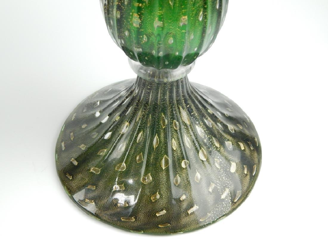 3pc IDEA MURANO EMERALD GLASS GARNITURE SET - 5