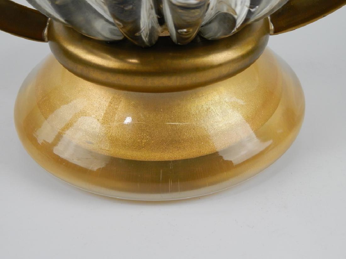 3pc IDEA MURANO EMERALD GLASS GARNITURE SET - 8