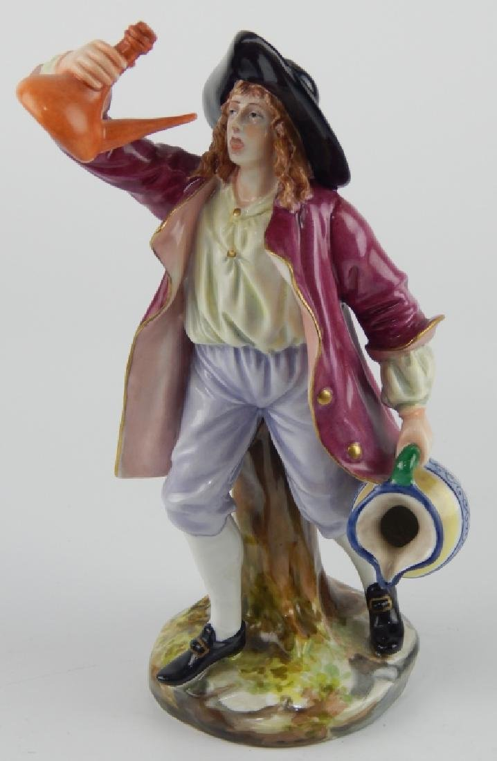 ANTIQUE CAPODIMONTE GINORI PORCELAIN DRINKING MAN