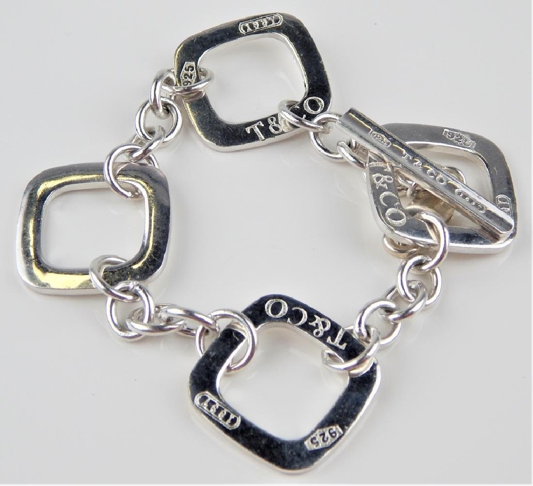 1837 TIFFANY & CO STERLING SQUARE TOGGLE BRACELET