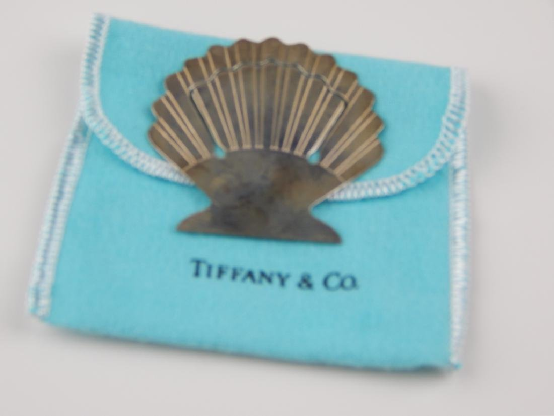 TIFFANY & CO STERLING SILVER SHELL BOOKMARK w BOX - 2