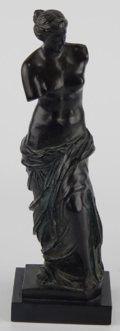 FRENCH BRONZE SCULPTURE OF VENUS DE MILO ON BASE