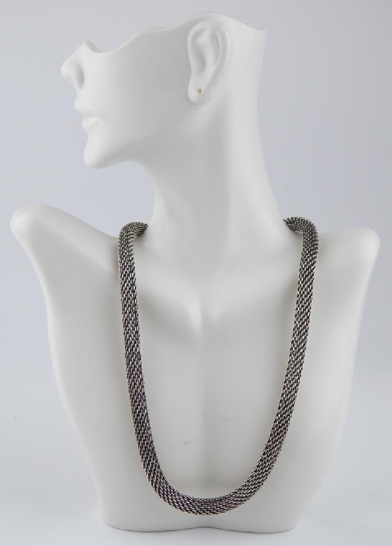 STEPHEN WEBSTER STERLING MESH TOGGLE NECKLACE