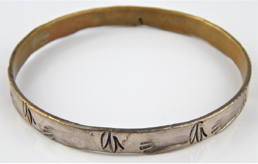 VINTAGE TAXCO STERLING SILVER FOOTPRINTS BANGLE