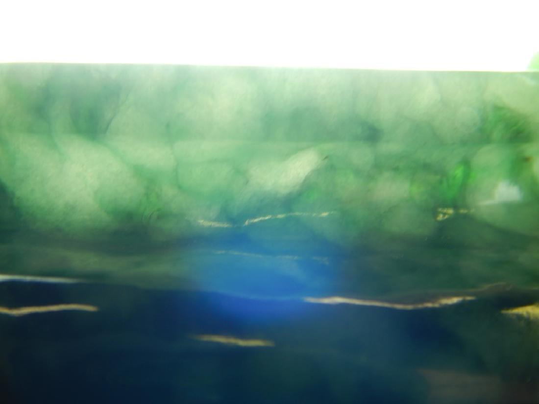 CHINESE WHITE & SPINACH JADEITE TRIPOD CENSOR - 8