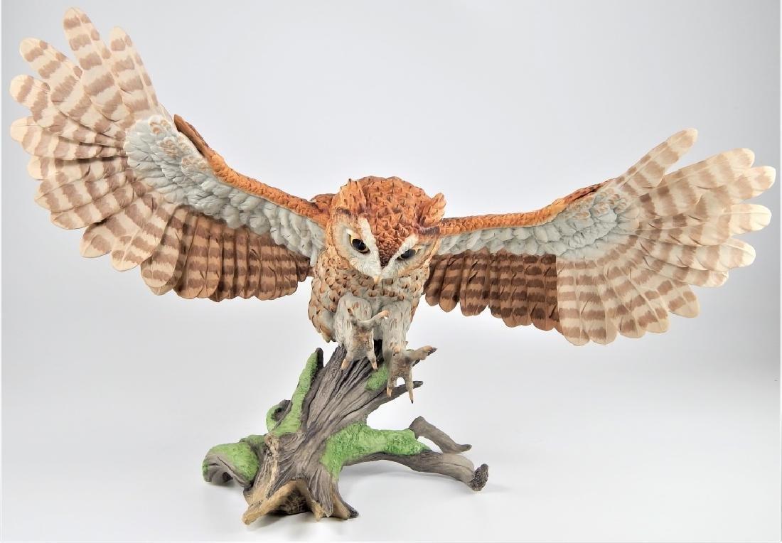 BOEHM PORCELAIN LIMITED EDITION SCREECH OWL FIGURE