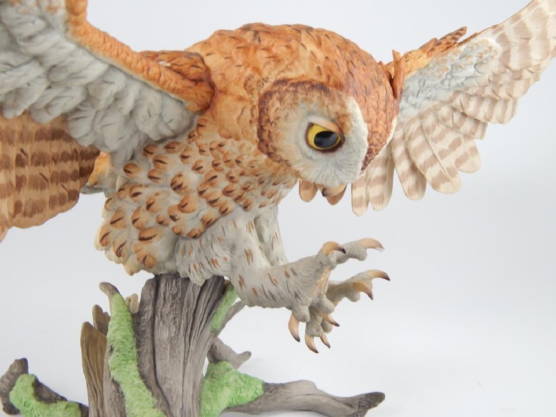 BOEHM PORCELAIN LIMITED EDITION SCREECH OWL FIGURE - 4