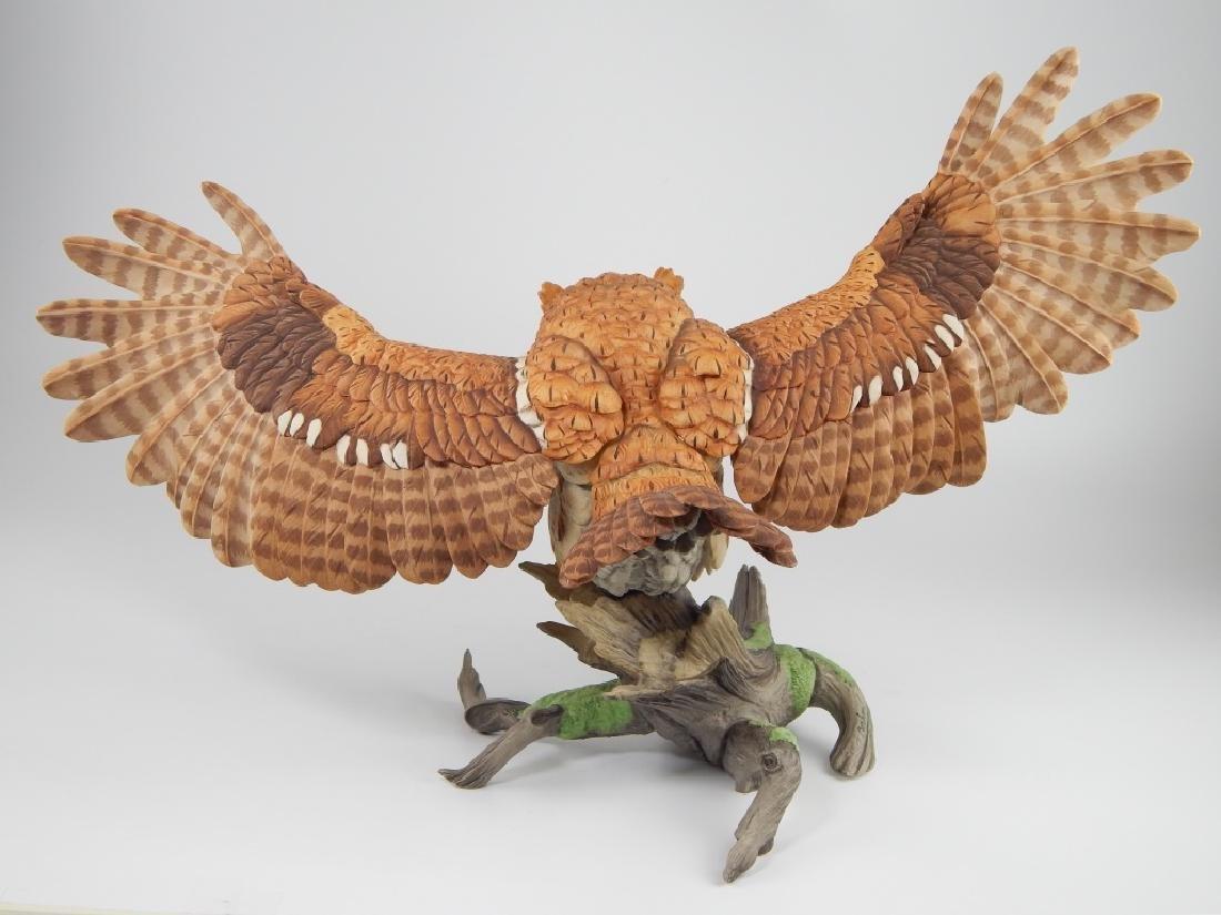 BOEHM PORCELAIN LIMITED EDITION SCREECH OWL FIGURE - 6