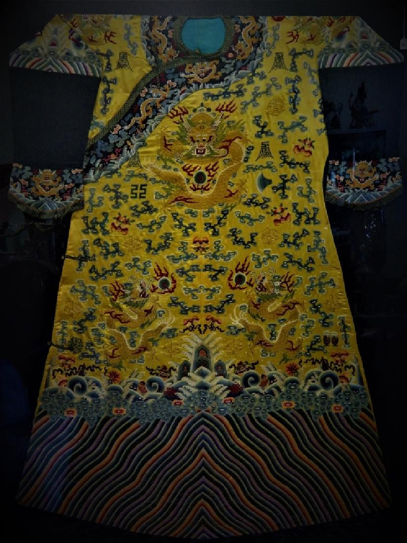 EXQUISITE CHINESE QING KESI IMPERIAL COURT ROBE - 2