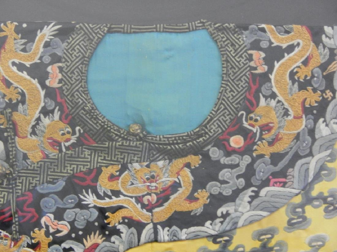EXQUISITE CHINESE QING KESI IMPERIAL COURT ROBE - 4
