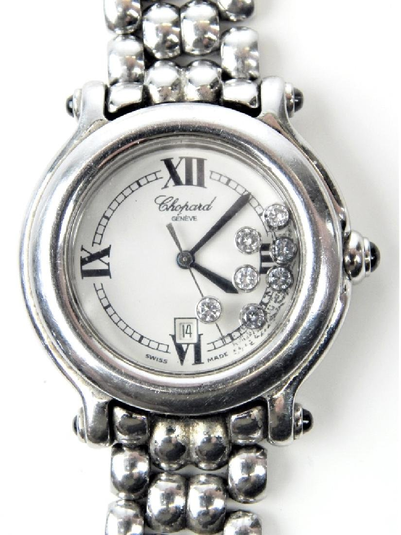 LADIES CHOPARD HAPPY SPORT DIAMOND SS DATE WATCH