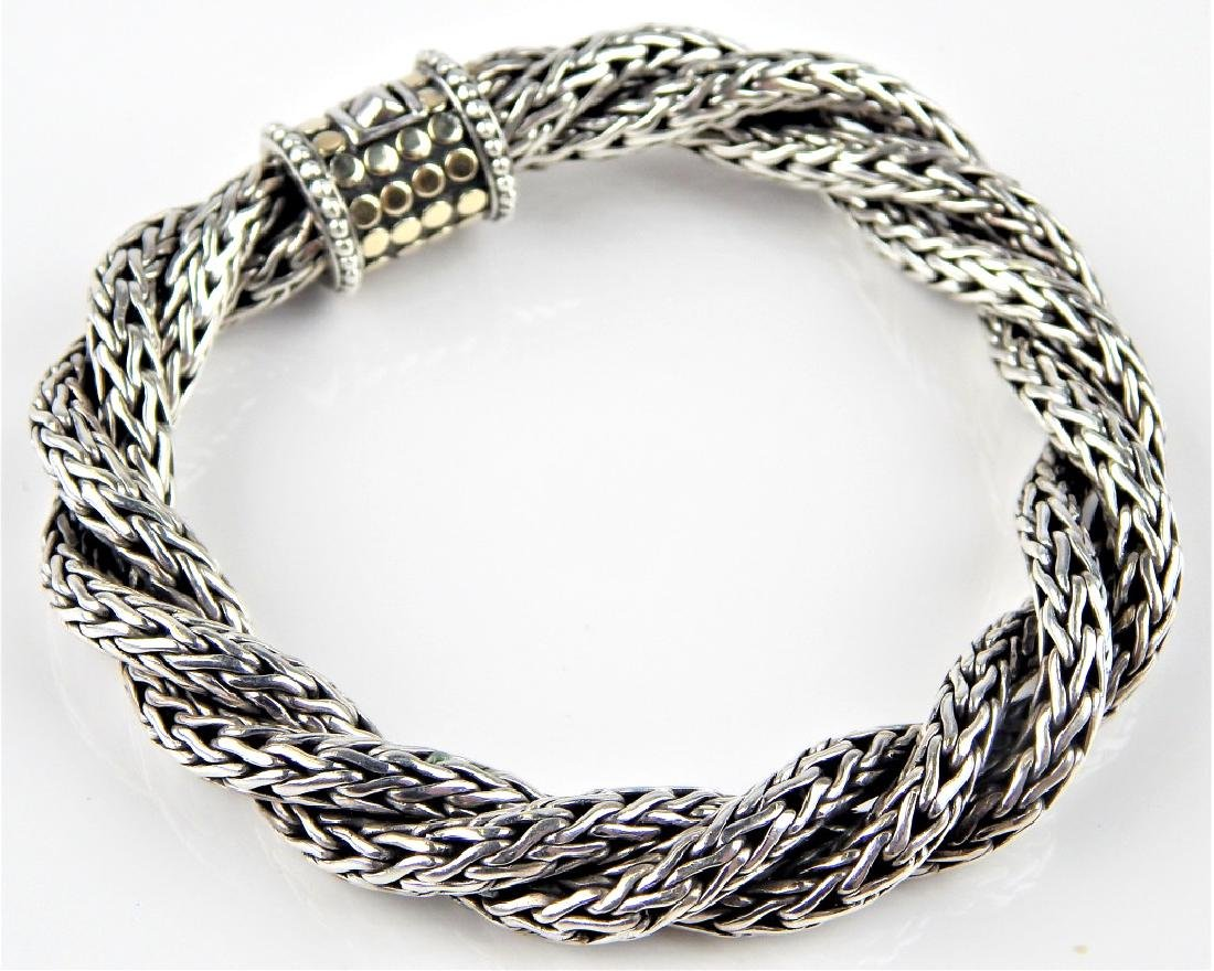 JOHN HARDY 18K STERLING TRIPLE TWIST BRACELET
