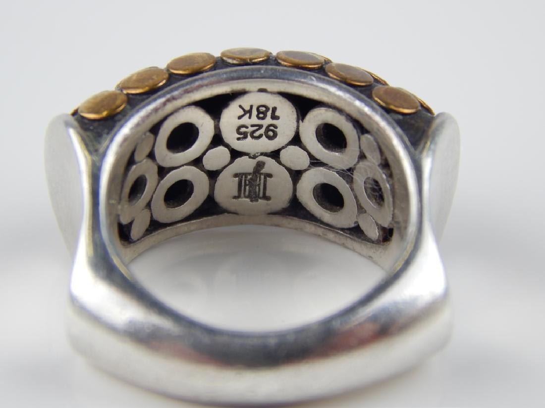 JOHN HARDY 18K YG STERLING SILVER DOT DISC RING - 3