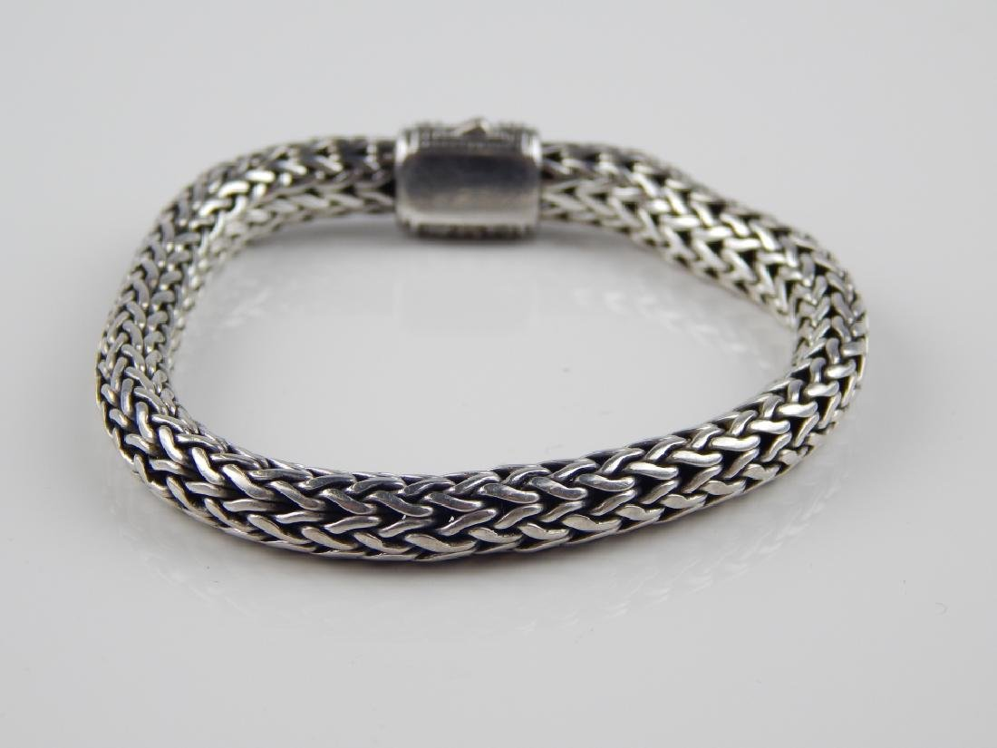 JOHN HARDY STYLE DIAMOND STERLING WHEAT BRACELET - 2
