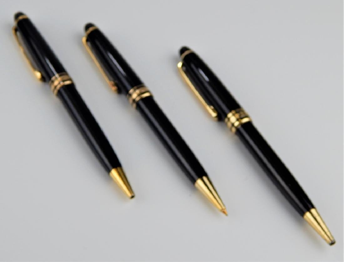 3 MONTBLANC MEISTERSTUCK WRITING ITEMS w CASES - 2