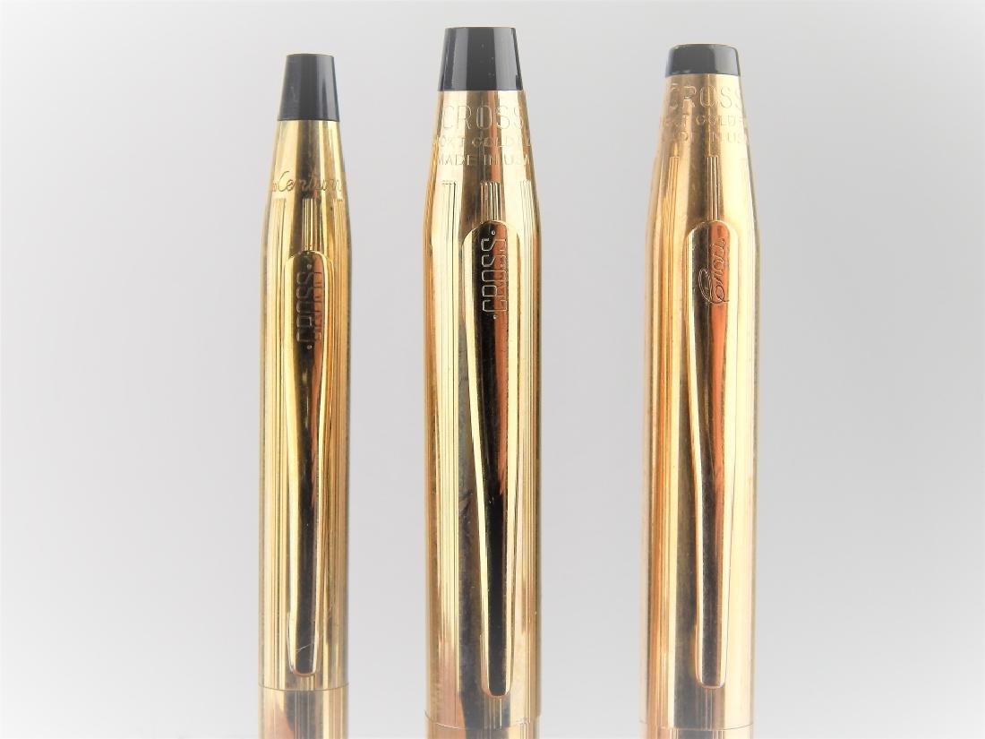 3 VINTAGE CROSS GOLD FILLED WRITING UTENSILS - 2