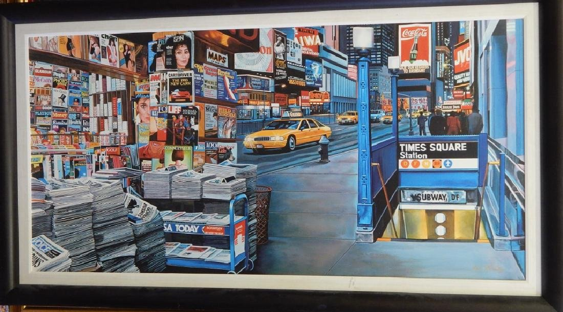 KEN KEELEY TIMES SQUARE STATION GICLEE ON CANVAS