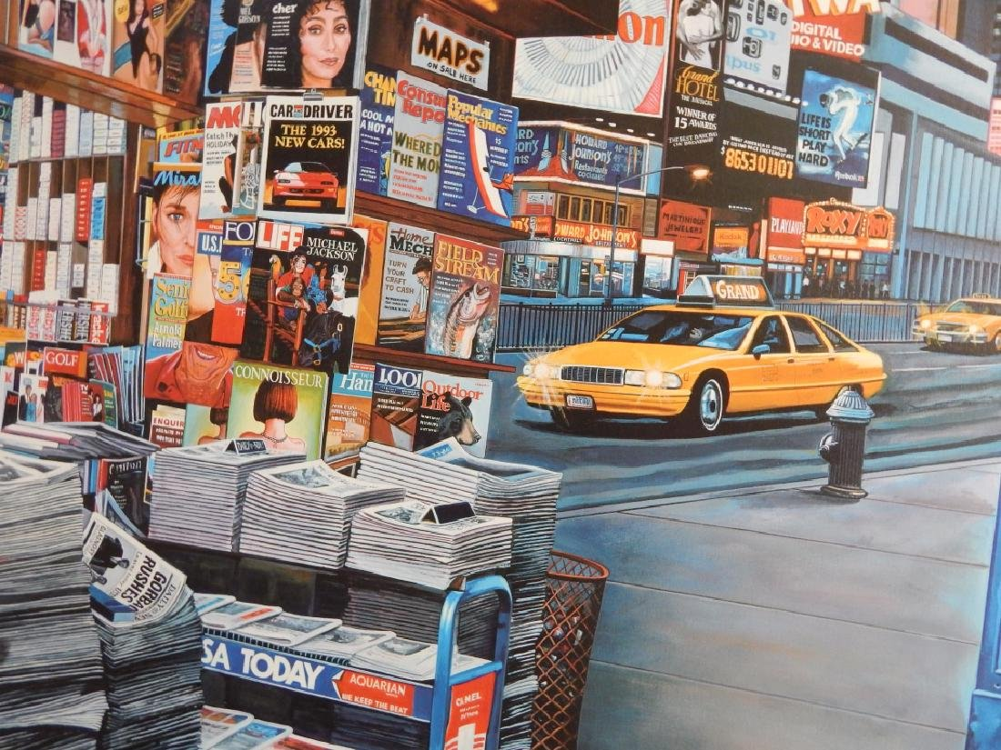 KEN KEELEY TIMES SQUARE STATION GICLEE ON CANVAS - 3