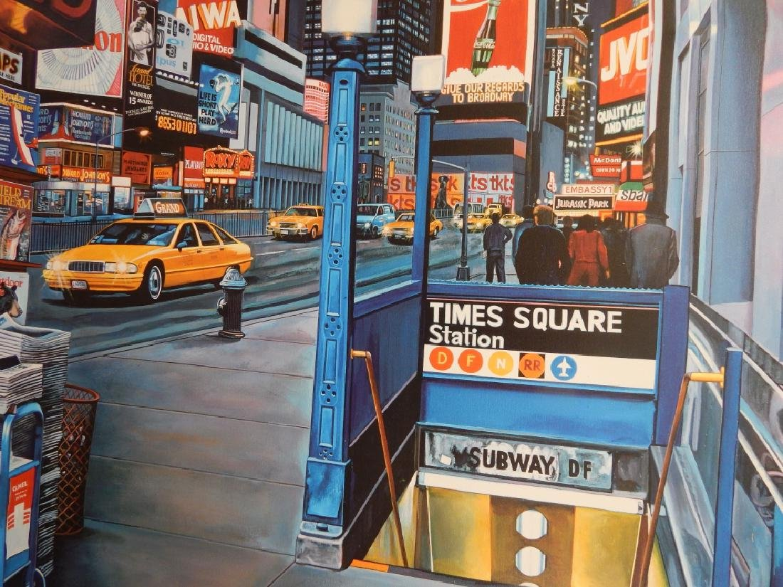 KEN KEELEY TIMES SQUARE STATION GICLEE ON CANVAS - 4