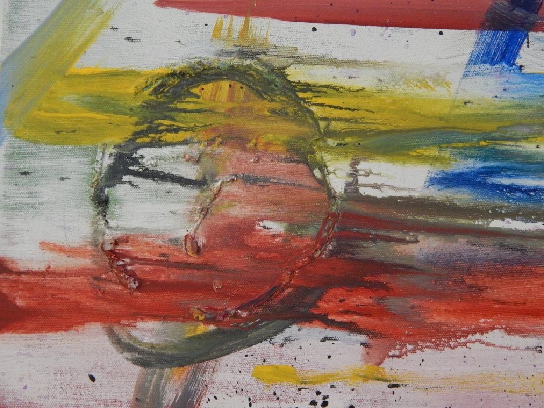 M MILLIS ABSTRACT OIL PAINTING ON CANVAS - 5