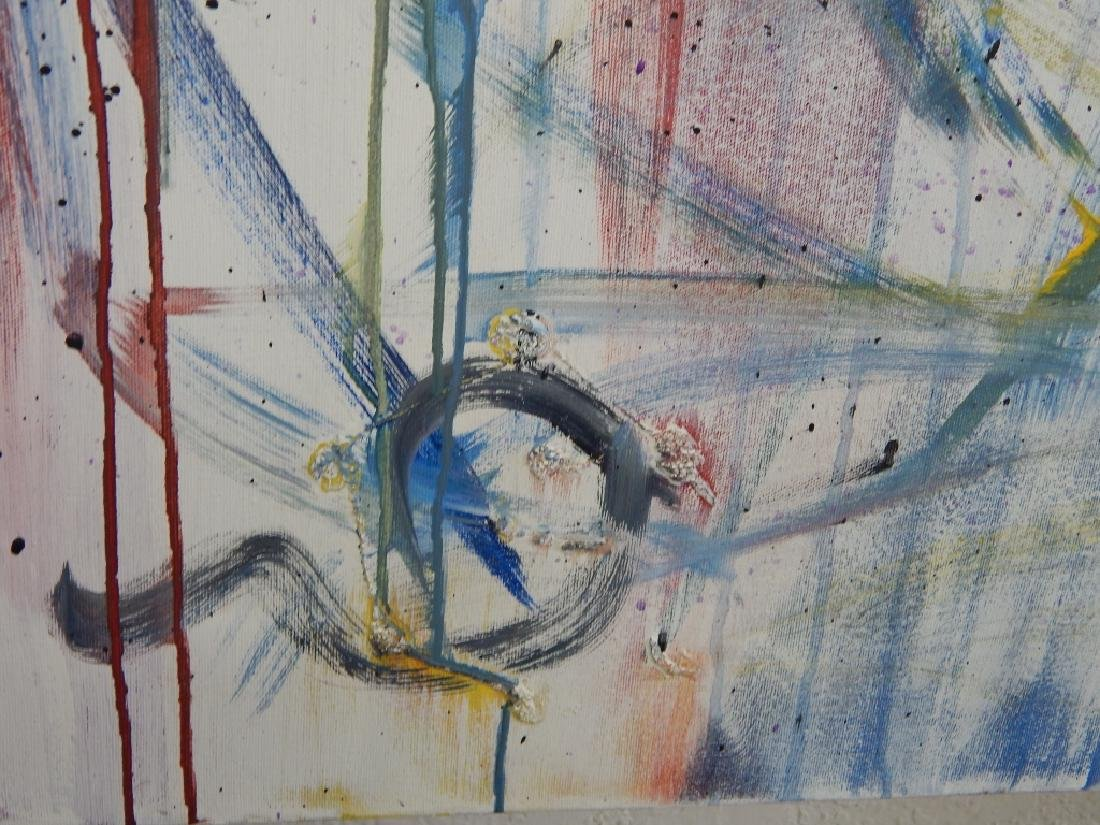 M MILLIS ABSTRACT OIL PAINTING ON CANVAS - 6
