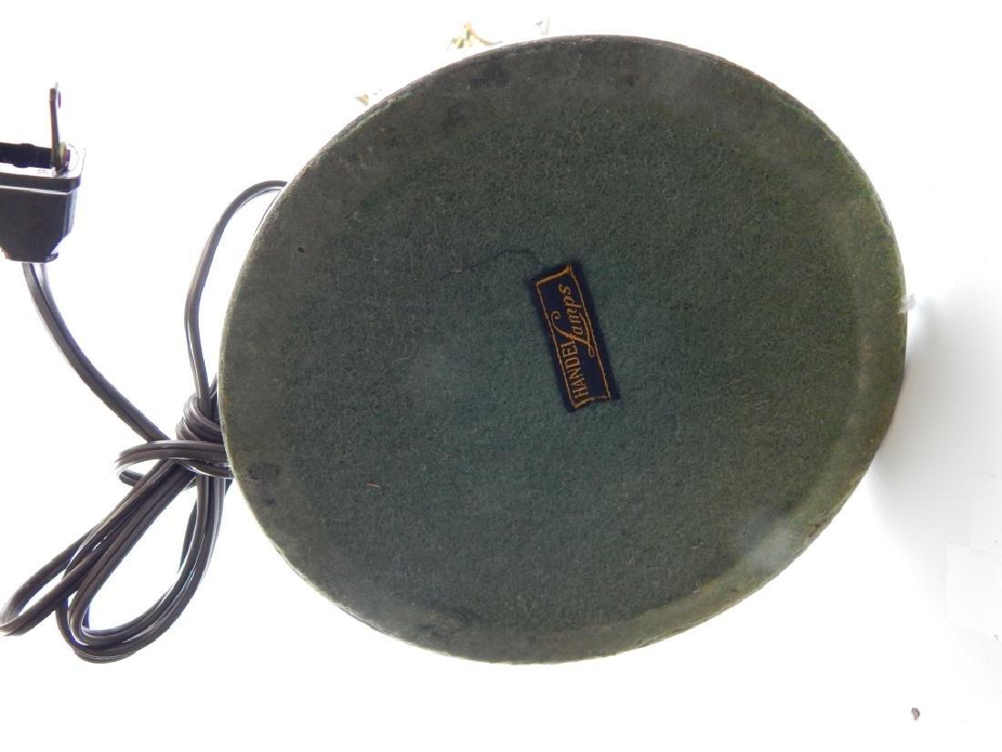 VINTAGE HANDEL SILVER TONE ASIAN STYLE LAMP BASE - 8