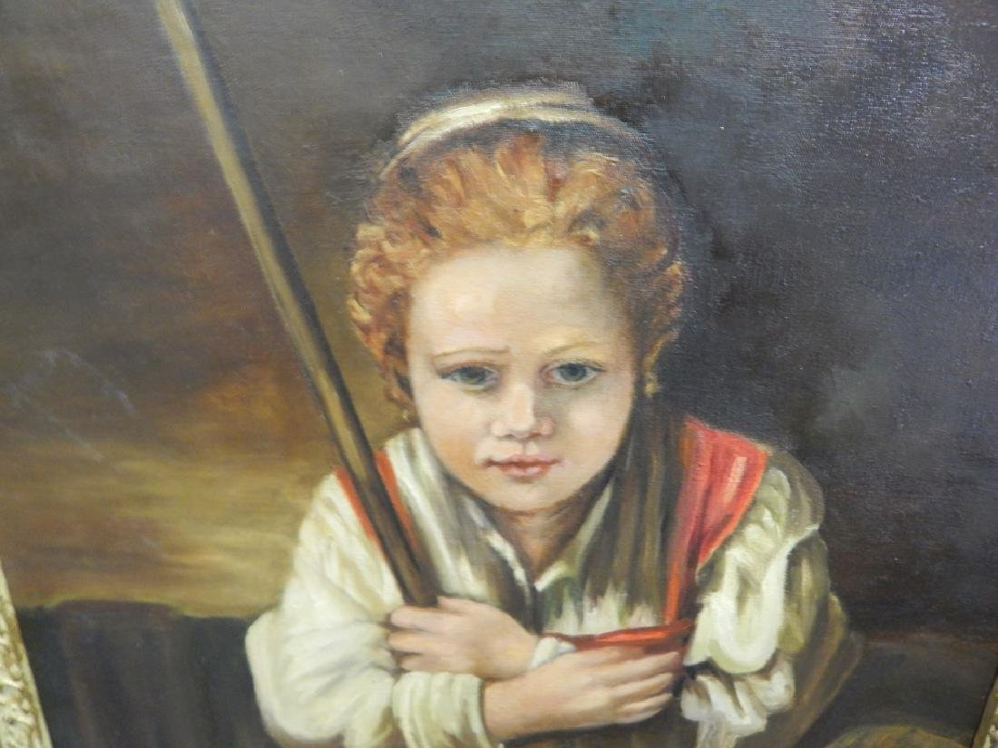 AFTER REMBRANDT BOY WITH BROOM OIL ON CANVAS - 3