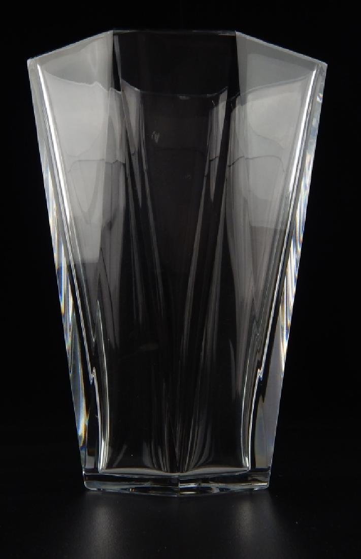 BACCARAT FRENCH CRYSTAL HEAVY VASE