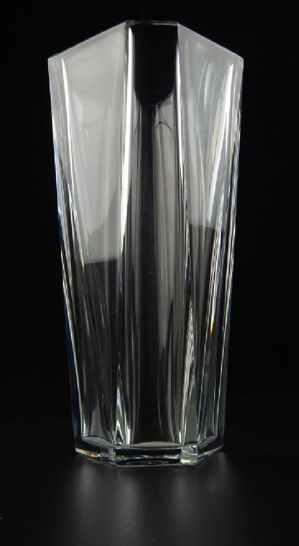 BACCARAT FRENCH CRYSTAL HEAVY VASE - 3